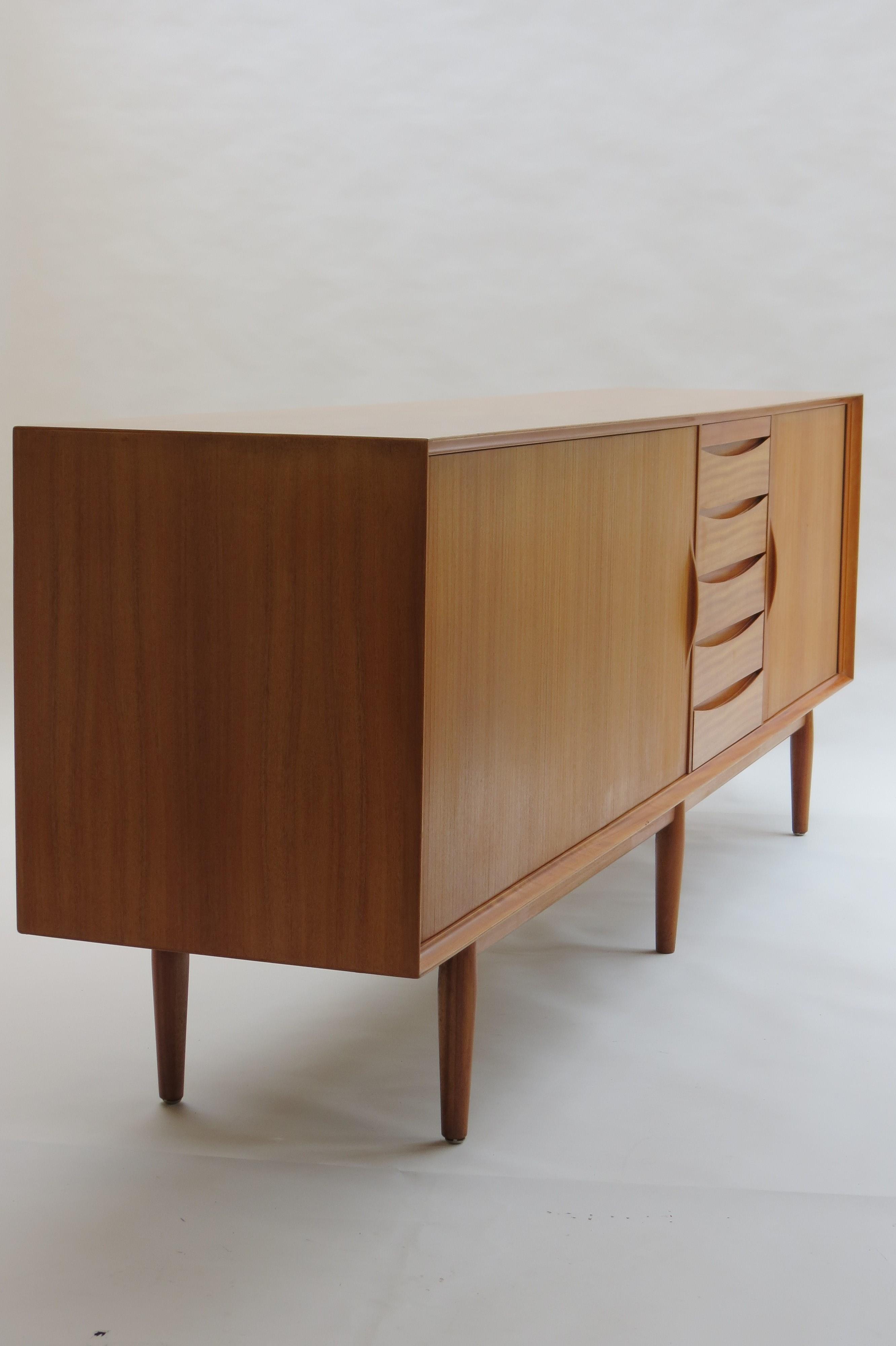 Danish sideboard with twin tambour doors Model number 76 ...