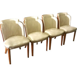 """Set of 4 """"socalled cloudback"""" chairs, Lou and Harry EPSTEIN - 1930s"""