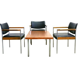 Thereca set of 4 chairs and matching table - 1960s