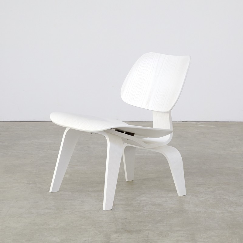 eames lounge chair wood lcw white limited edition for vitra