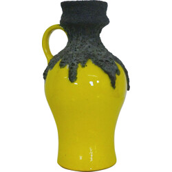 Roth keramik yellow fat lava vase - 1960s