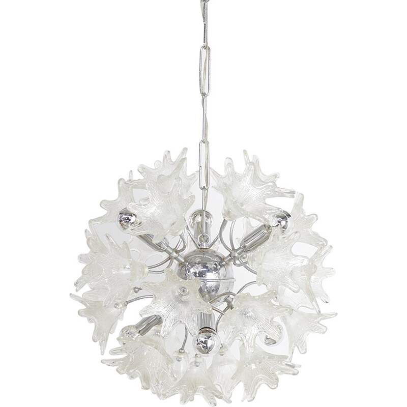"Paolo Venine ""Sputnik"" flower hanging lamp for VeArt Italy - 1960s"