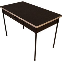 Industrial desk in steel with drawers - 1950s