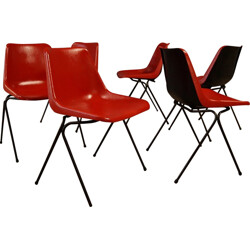 Set of 6 dining chairs Robin Day - 1960s