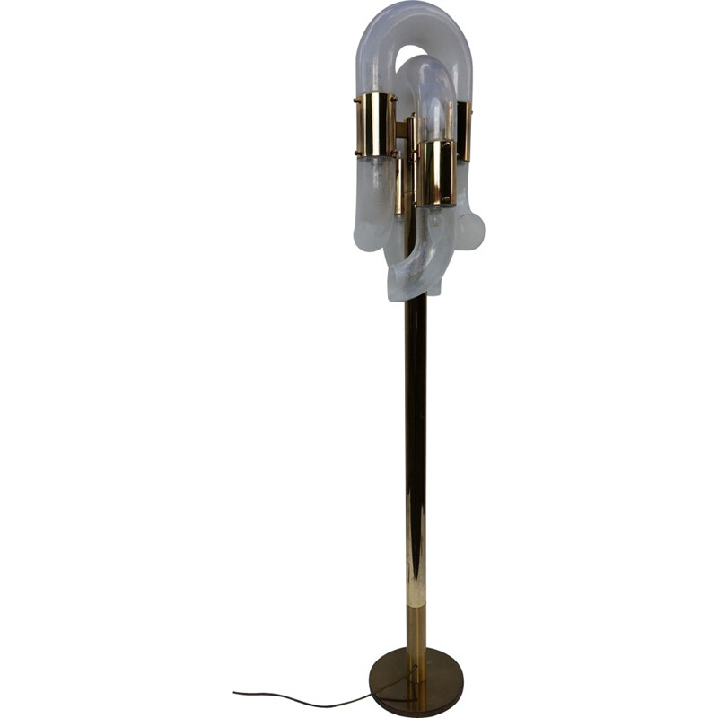 Tubular floor lamp by Carlo Nason for Mazzega - 1960s