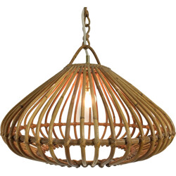 Hanging lamp in bamboo - 1960S