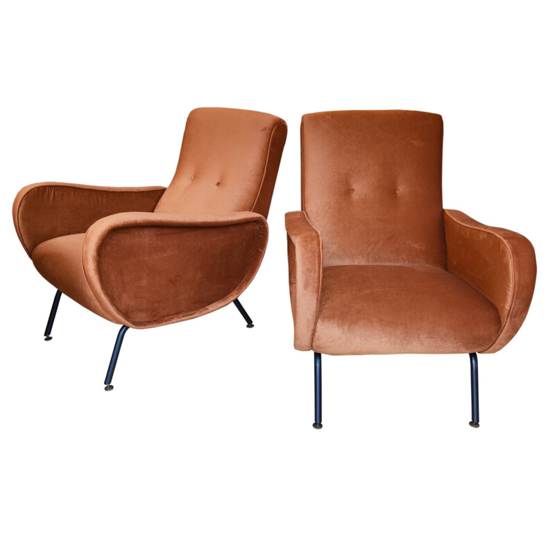 Pair of lady chairs designed by Marco Zanuso - 1950s