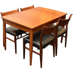 Dining set of a Pastoe extendable table and 4 chairs, Cees BRAAKMAN - 1970s