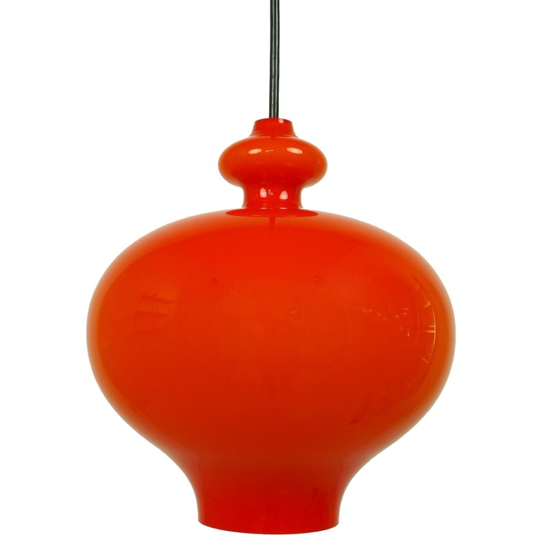 Staff pendant lamp in Holmegaard glass - 1960s