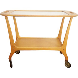 Mid century Scandinavian trolley in solid wood - 1960s