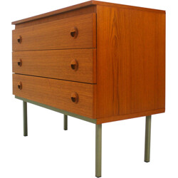 Small chest of drawers in teak - 1960s
