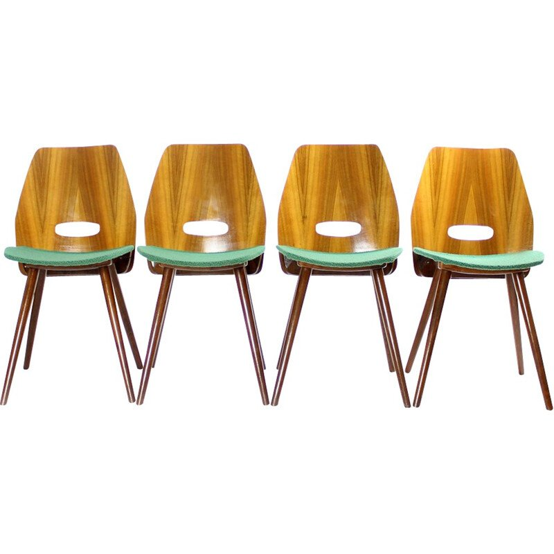 Set of 4 design chairs Jirak - 1960s