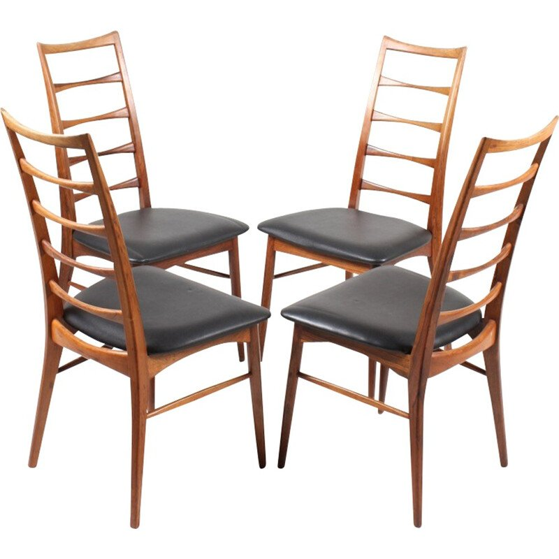 Set of 4 rosewood dining chairs by Niels Koefoed - 1960s