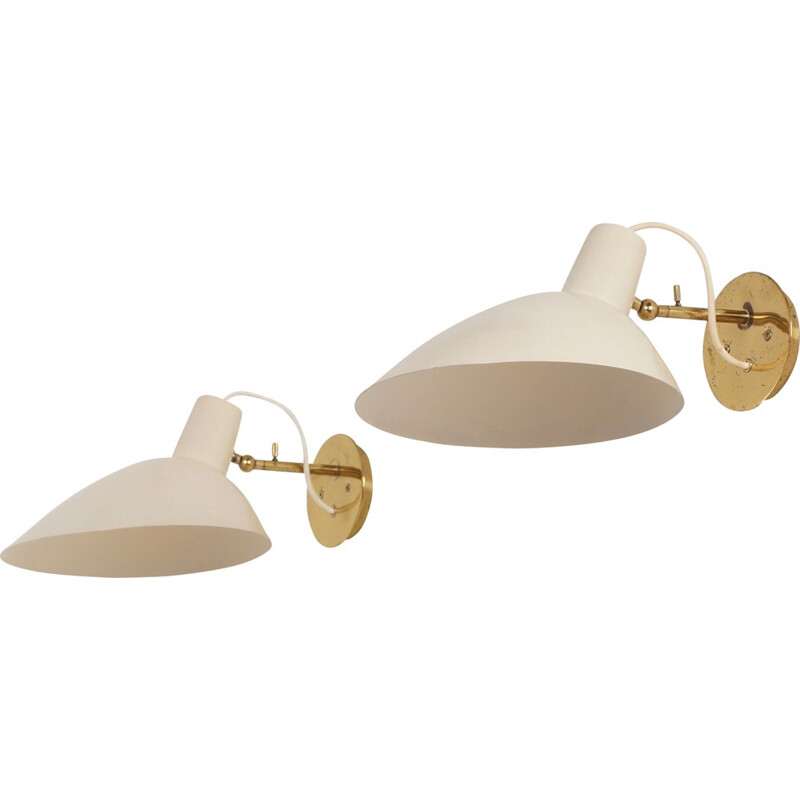 Set of 2 Visor Wall Lights by Vittoriano Vigano for Arteluce - 1950s