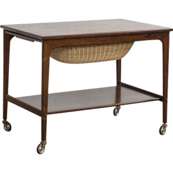 Danish sewing cart in rosewood - 1960s