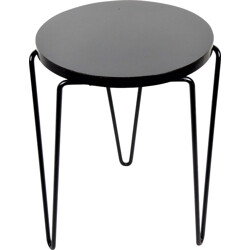 Round stool stackable to the tray model 75 by Florence KNOLL for KNOLL - 1950s