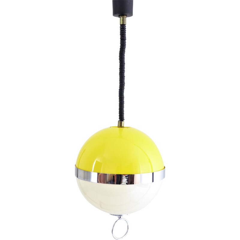"Bicolor ""Bowl"" ceiling light by Disderot - 1960s"