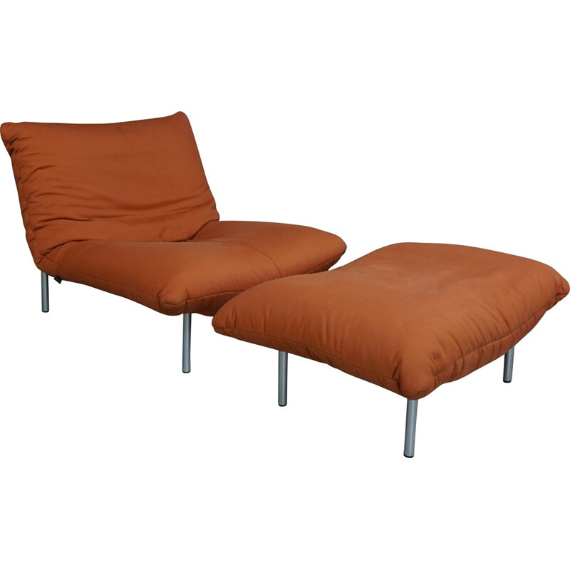 Armchair and ottoman Pascal Mourgue for Cinna - 1980s