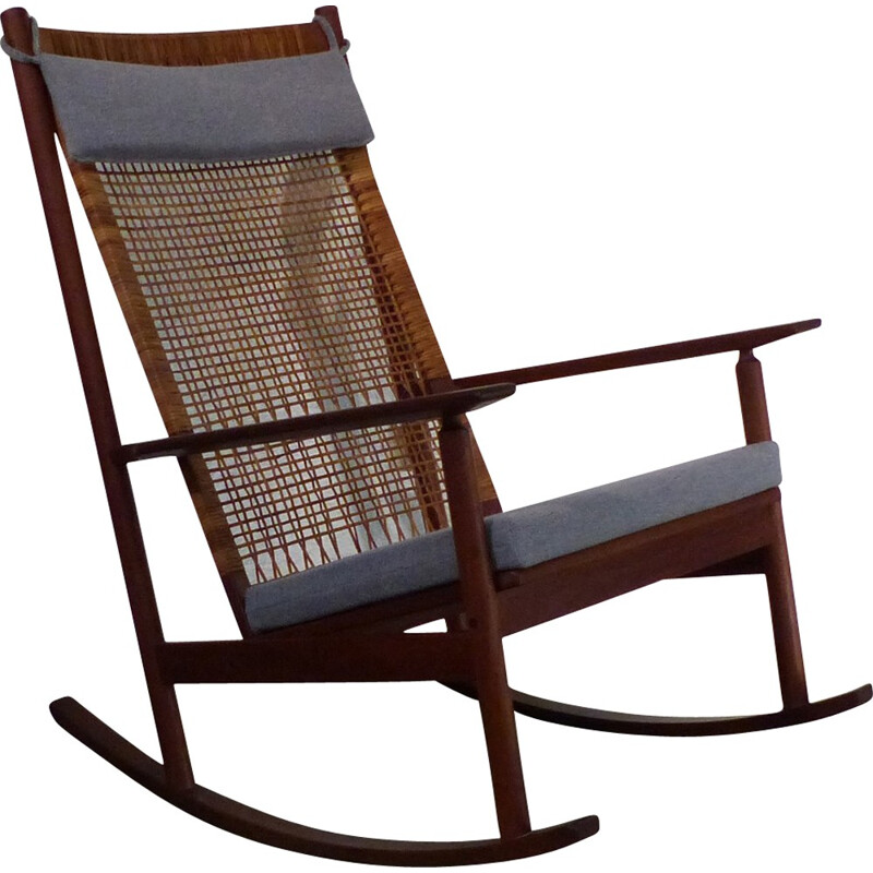 Blue rocking chair by Hans Olsen - 1960s