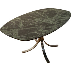 Dining table in green marble - 1970s