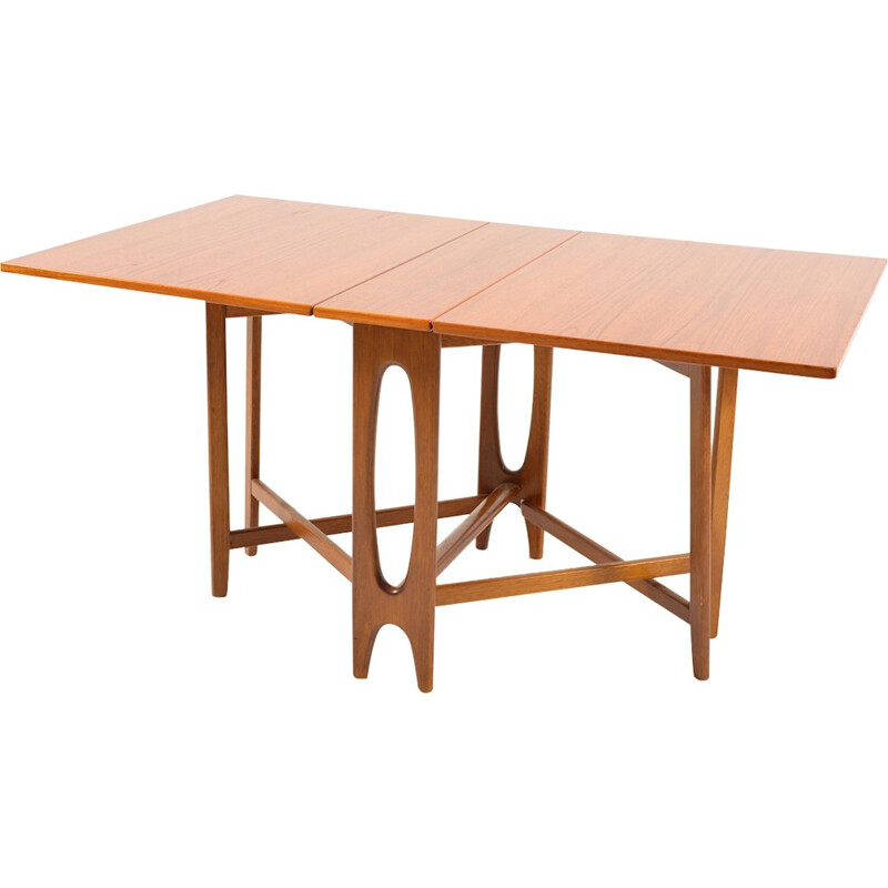 Brown dining table in teak by Bendt Winge - 1950s