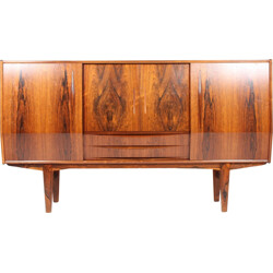 Brown sideboard in rosewood with mini-bar - 1950s
