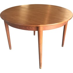 Extendable dining table in teak by Henry Walter Klein - 1960s