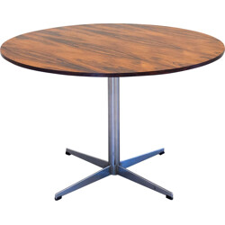 Round rosewood dining table - 1960s