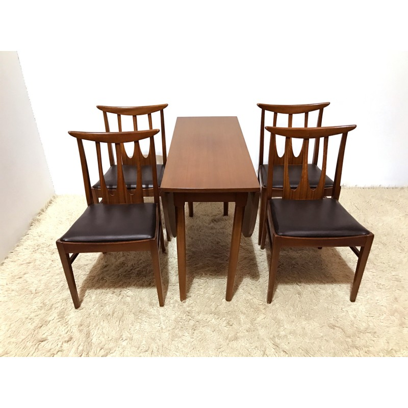 Pleasing G Plan Dining Set With Table And 4 Brasilia Chairs 1960S Squirreltailoven Fun Painted Chair Ideas Images Squirreltailovenorg