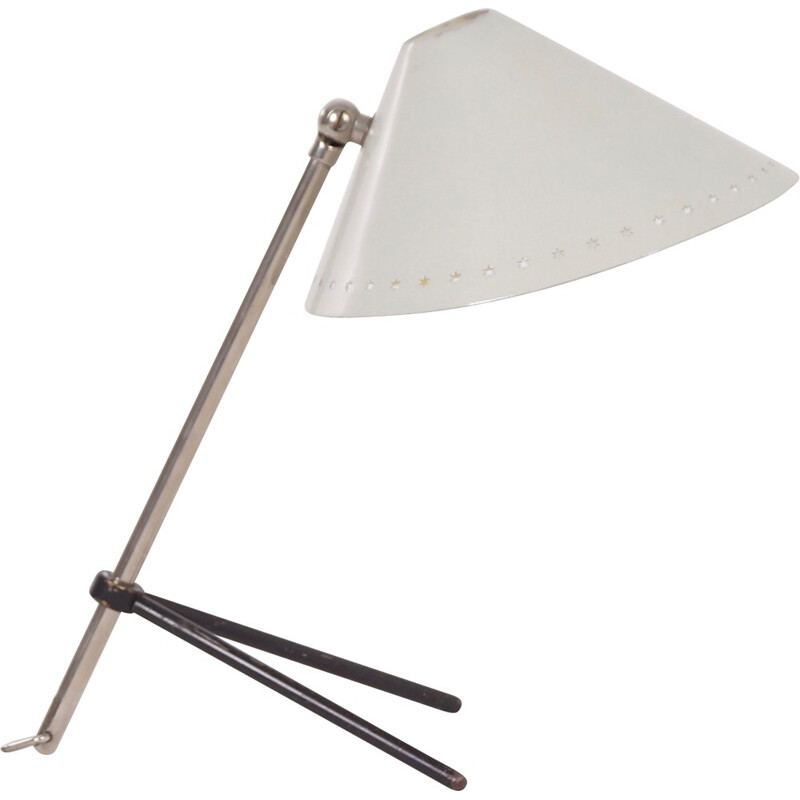White Pinocchio Lamp by H. Busquet for Hala - 1950s