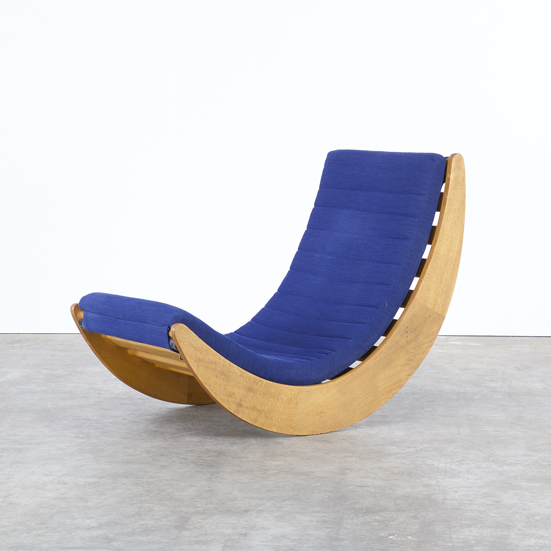 blue rocking chair by verner panton for rosenthal 1970s design