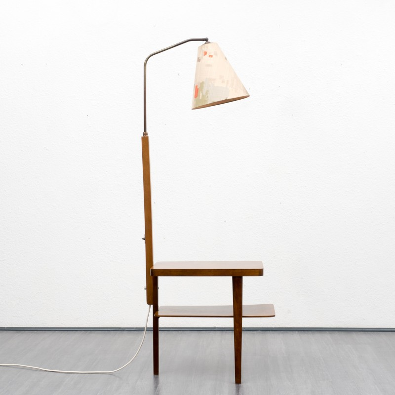 Set Of A Floor Lamp With A Side Table 1950s Design Market