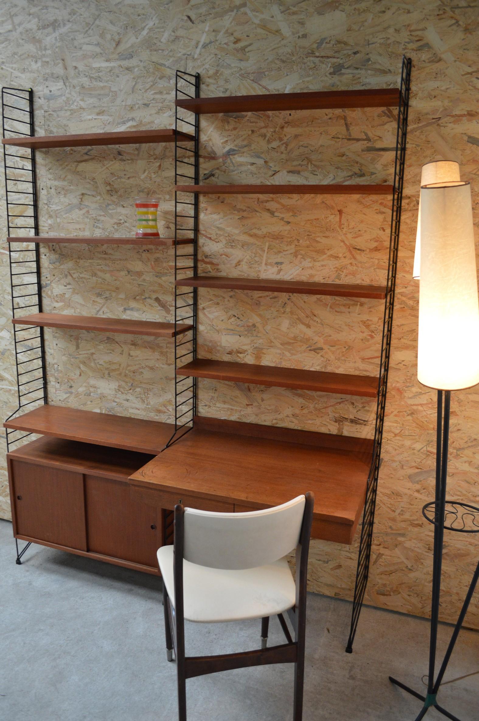 Nisse Strinning large shelving unit nisse strinning 1960s design market