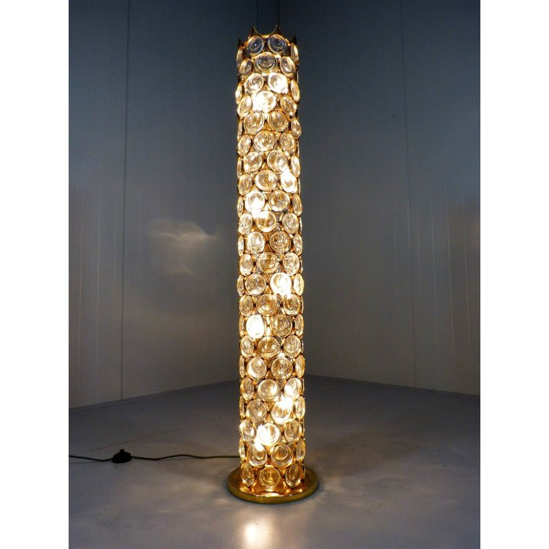 floor lamp in copper and crystal