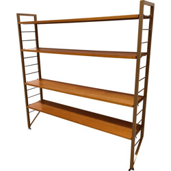 Ladderax small narrow shelving unit by Staples - 1960s