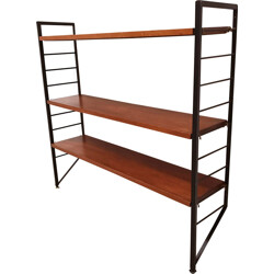 Ladderax small narrow shelving unit with 3 shleves by Staples - 1960s