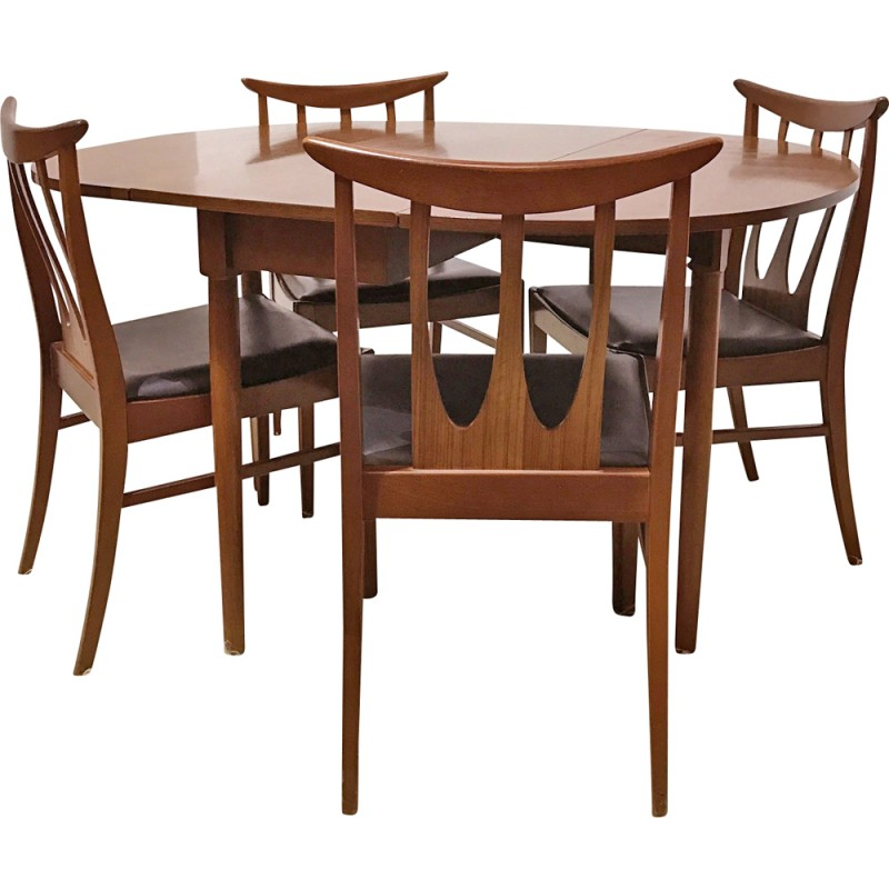 G Plan Dining Set With Table And 4 Brasilia Chairs   1960s