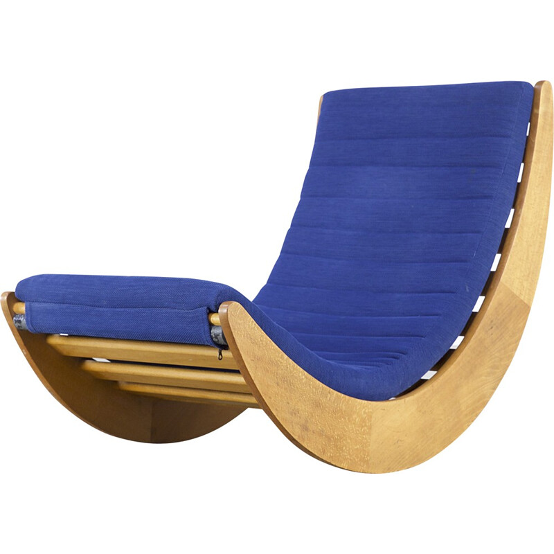 Blue rocking chair by Verner Panton for Rosenthal - 1970s
