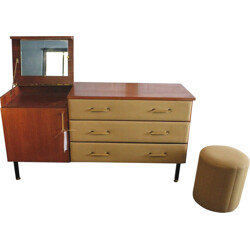 Dressing table with stool, Roger Landault - 1960s