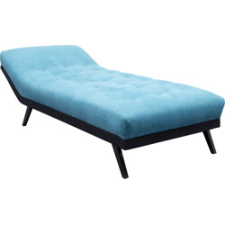 Blue daybed in wood - 1950s