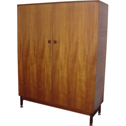 Teak wardrobe with hanging rail, André Monpoix - 1960s