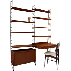 Large double shelving unit Nisse Strinning - 1960s