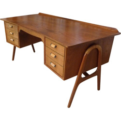 Free-Standing Teak Writing Desk by Svend A. Madsen for Sigurd Hansen - 1960s