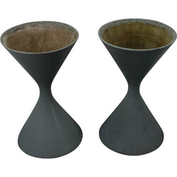 Pair of Spindle Planters by Willy Guhl & Anton Bee for Eternit - 1950s