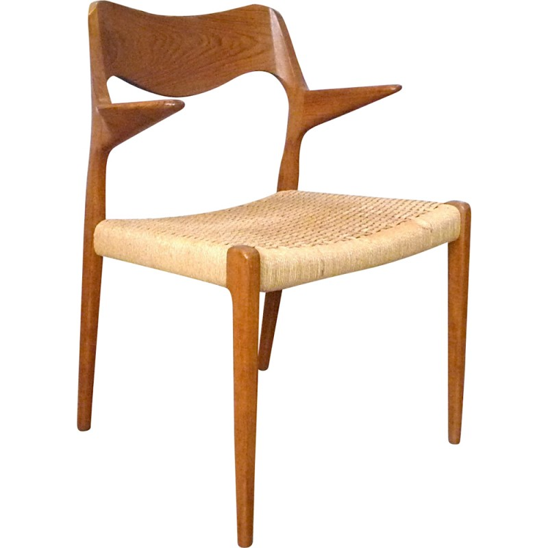 Danish Chair In Teak Model 55 By Niels O. Møller For J.L. Møller   1960s