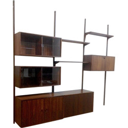 Shelving system in rosewood by Rud THYGESEN & Johnny SORENSEN - 1950s