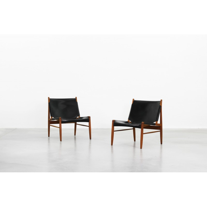 Pair Of Wk Mobel Oakwood Hunting Lounge Chairs Franz Xaver Lutz