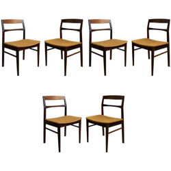 Set of 6 rosewood chairs - 1950s