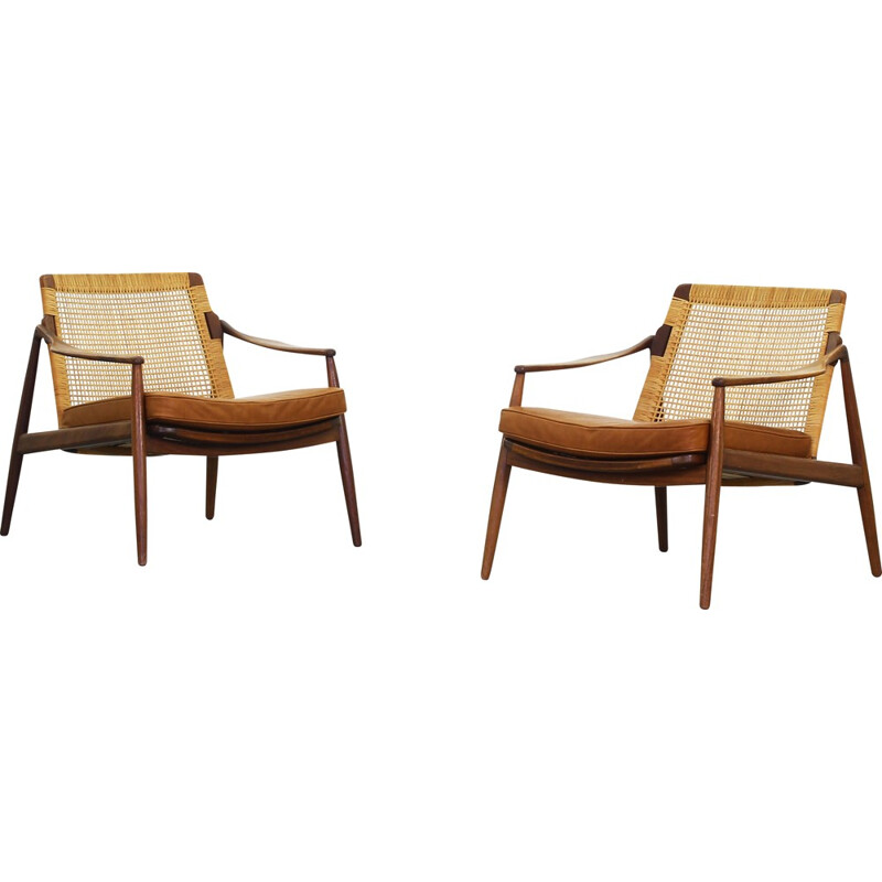 Pair of Lounge Chairs by Hartmut Lohmeyer for Wilkhahn - 1950s