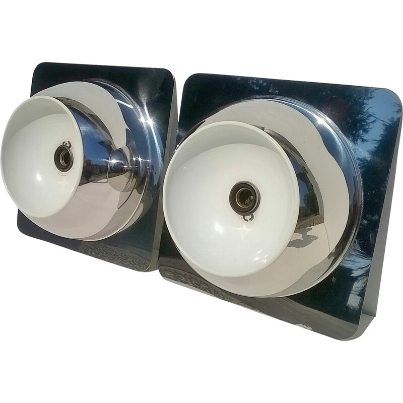 Pair of large wall lights by Goffredo Reggiani - 1960s